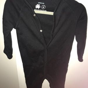 Primary all black snap onesie